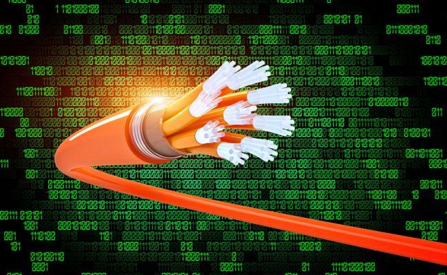 binary code and optical fiber